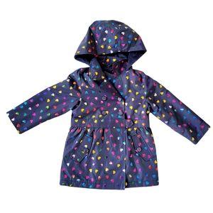 London Fog Fleece Lined Heart Rain Coat